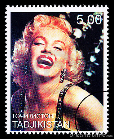 Marilyn Monroe Postage Stamp Editorial Stock Image