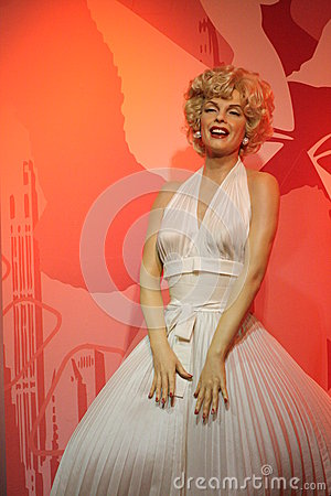Marilyn Monroe wax figure Editorial Image
