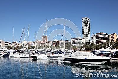 Marina of Alicante, Spain Editorial Image