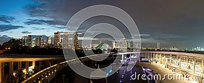 Marina Barrage and Cityscape Editorial Photo