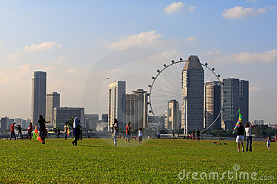 Marina Barrage,Singapore Editorial Image