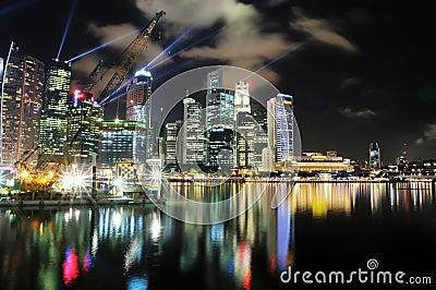 Marina Bay Cityscape Editorial Image