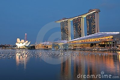 Marina Bay Sands Editorial Photo