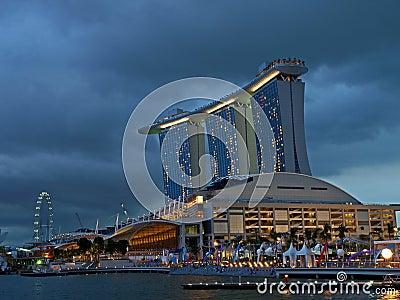 Marina Bay Sands Casino Editorial Image