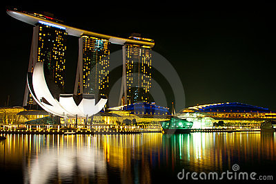 Marina Bay Sands Hotel and Casino Editorial Stock Photo