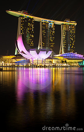 Marina Bay Sands Hotel and Casino Editorial Stock Image