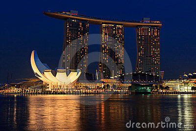 Marina Bay Sands hotel and casino, Singapore Editorial Stock Photo