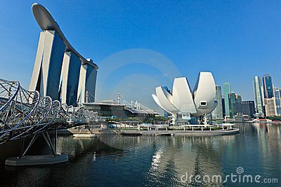 Marina Bay Sands hotel and casino, Singapore Editorial Photography