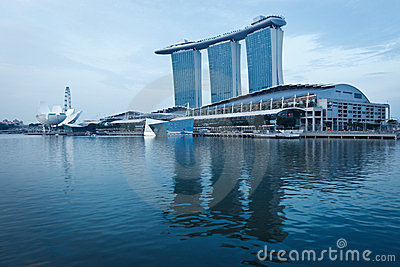 Marina Bay Sands hotel and casino, Singapore Editorial Photo