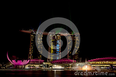 Marina Bay Sands hotel in Singapore. Editorial Stock Photo