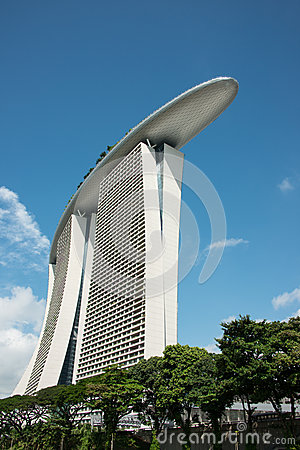 Marina Bay Sands Hotel Tower Editorial Photography