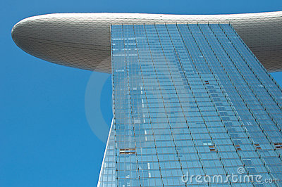 Marina Bay sands Integrated Resort Hotel Tower Editorial Stock Image