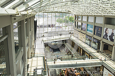 Marina Bay Sands Shopping Editorial Image