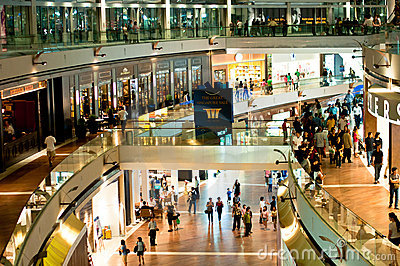 Marina Bay Sands Shopping Mall Editorial Stock Image