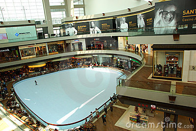 Marina Bay Sands Shopping Mall Editorial Photography