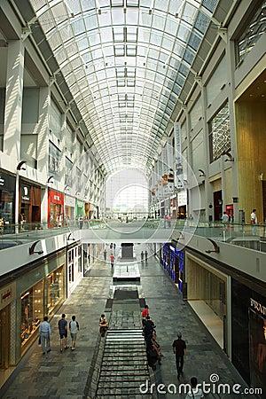 Marina Bay Sands Shopping Mall Editorial Stock Photo