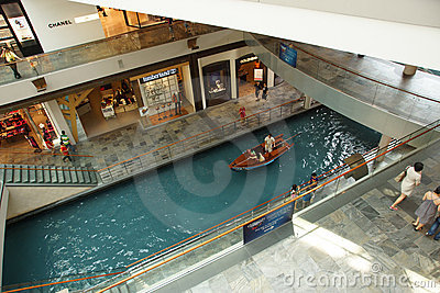 Marina Bay Sands Shopping Mall Editorial Stock Photo