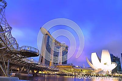 Marina Bay Sands Singapore Editorial Photography