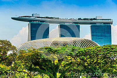 Marina  Bay Sands, Singapore, Editorial Photo