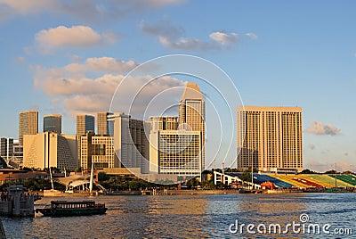 Marina bay of Singapore Editorial Stock Photo