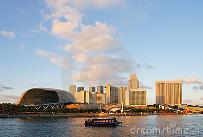 Marina bay of Singapore Editorial Stock Photo