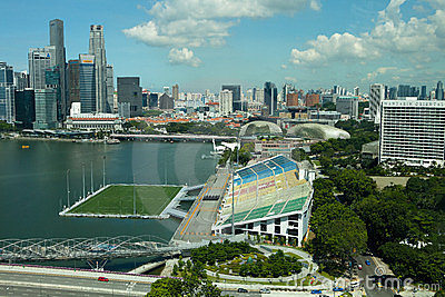 Marina Bay, Singapore Editorial Photo