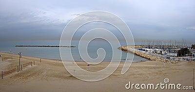 Tel Aviv marina beach, Israel