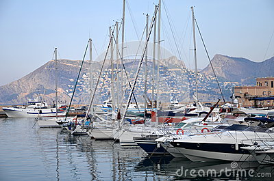 Marina in Calpe, Spain