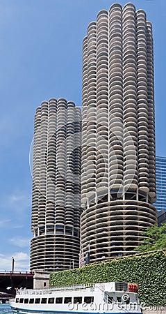 Marina City Towers Chicago Editorial Stock Photo