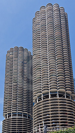 Marina City Towers Chicago Editorial Stock Image
