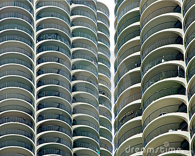 Marina City Towers Closeup - Chicago, IL