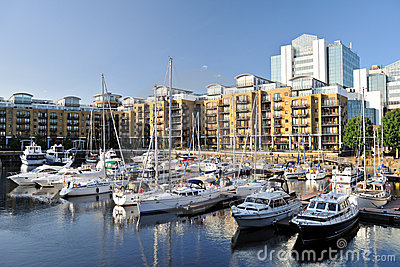 Marina, flats St Katharine Dock London, England