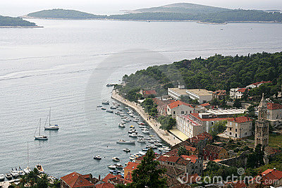 Marina on island of Hvar