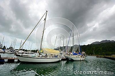 Marina in Langkawi island