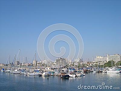 Marina in Larnaca, Cyprus