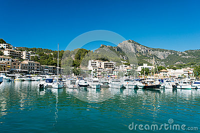 Marina at Majorca Balearic islands