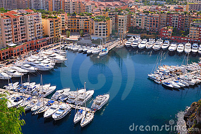 Marina of Monte Carlo in Monaco