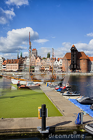 Marina and Old Town of Gdansk Skyline