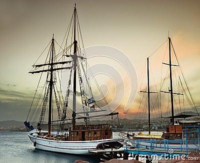 Marina port at Eilat