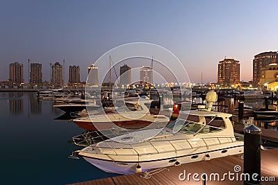 Marina in Porto Arabia, Doha
