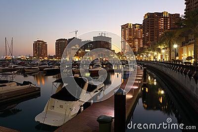 Marina in Porto Arabia, Doha Editorial Image