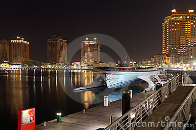 Marina of Porto Arabia, Doha Qatar Editorial Photo