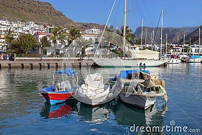 Marina in Puerto de Mogan 02, Gran Canaria, Spain