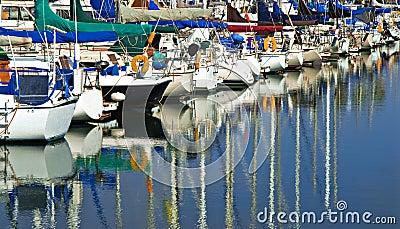 Marina Sail Boats, California