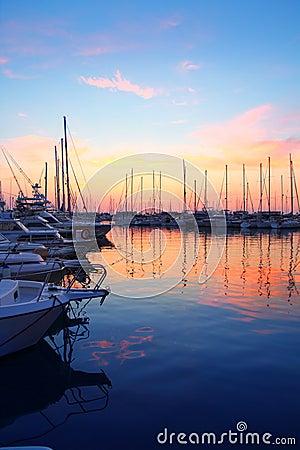 Free Marina Sunrise Sunset Sport Boat Colorful Royalty Free Stock Photography - 16507327