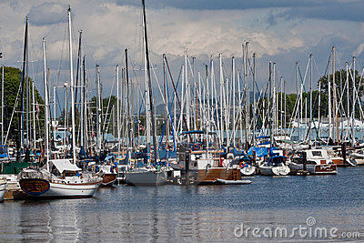 Marina in Vancouver Editorial Stock Image