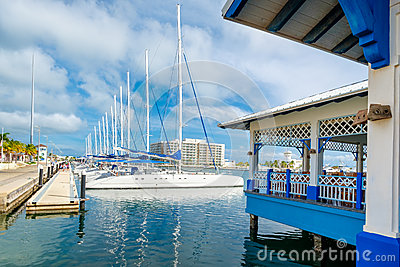 Marina at Varadero beach in Cuba Stock Photo