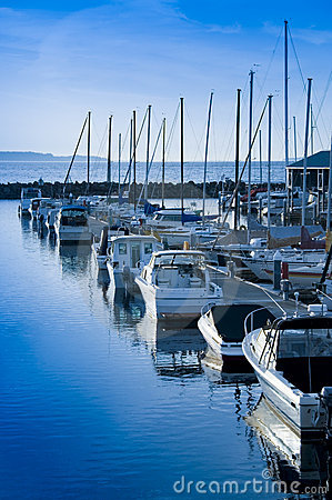 Free Marina View Royalty Free Stock Image - 2571546