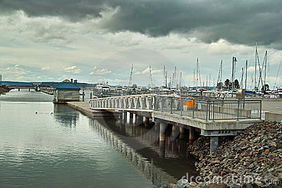 Marina walkway and dock