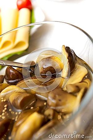 Free Marinaded Mushrooms Stock Photo - 22755570